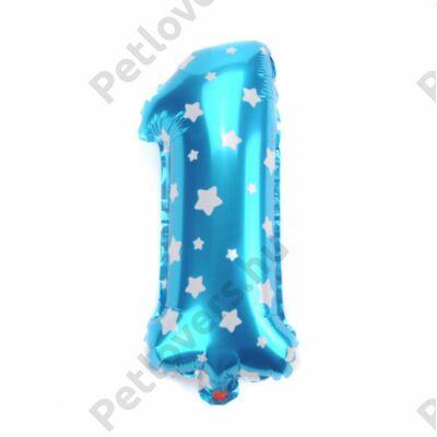 1-es Formájú Héliumos Fólia Lufi - kék