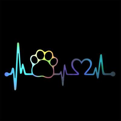 EKG mancs és szív matrica - hologram