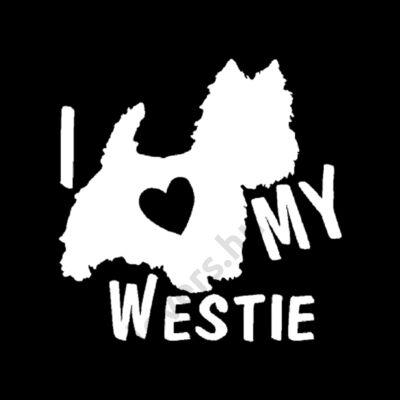 I my Westie matrica - fehér