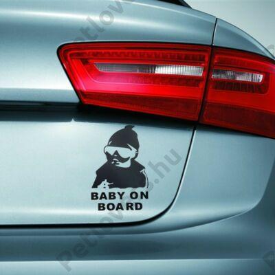 Baby on board - fekete
