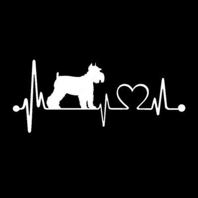 EKG Schnauzer matrica - fehér