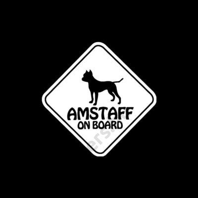 AMSTAFF ON BOARD matrica 15*15cm