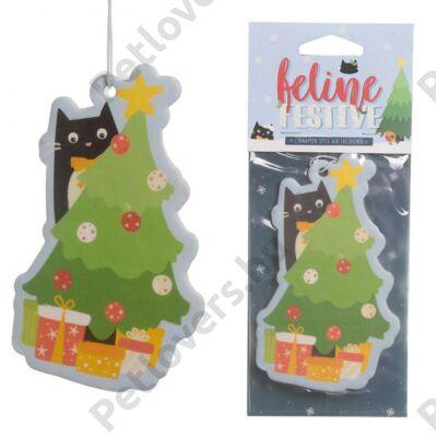 Karácsonyi cicás autóillatosító