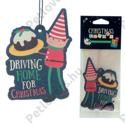 Karácsonyi manó autóillatosító