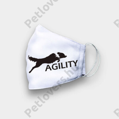 Border Collie mintás szájmaszk - agility