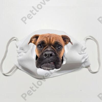 Boxer mintás szájmaszk - 3D