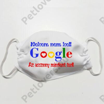 Fehér szájmaszk  - google