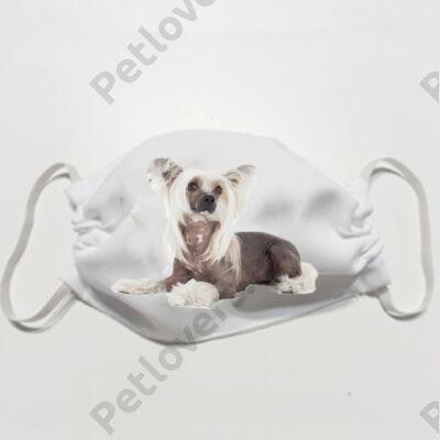 Kínai meztelen kutya mintás szájmaszk