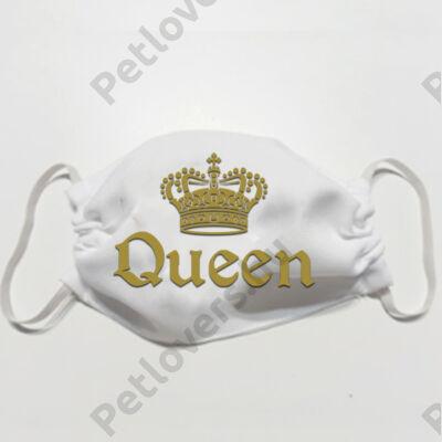 Fehér szájmaszk - queen