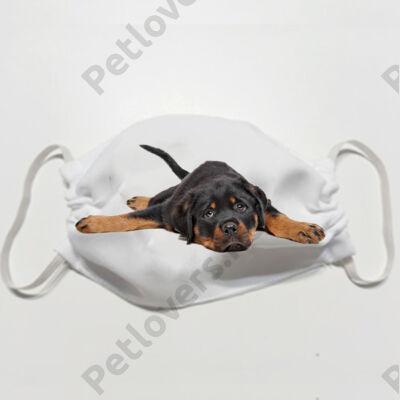Rottweiler mintás szájmaszk - puppy