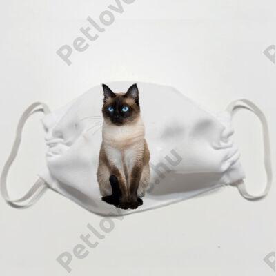 Sziámi macska mintás szájmaszk