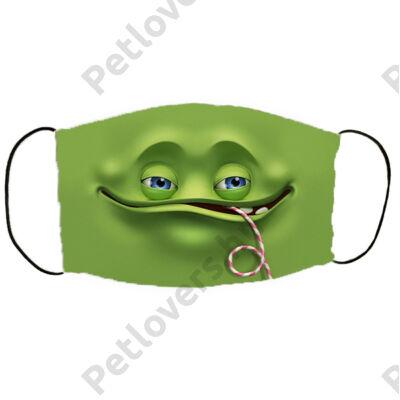 Zöld cuki szörnyecske mintás szájmaszk