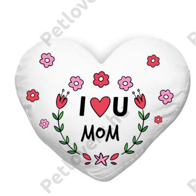Szeretlek Anya szívecskés párna