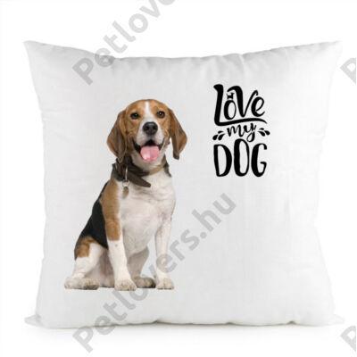Beagle mintás párna - love my dog