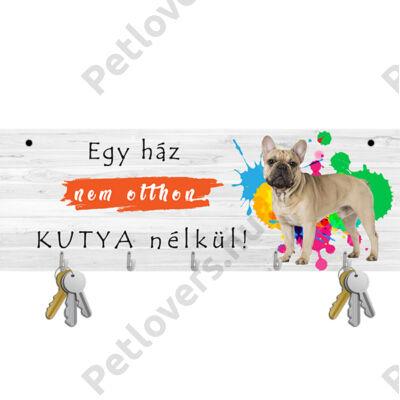Francia Bulldogos fali kulcstartó