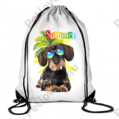 Szálkásszőrű tacskó hátizsák - summer