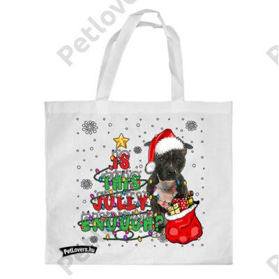 Amstaff mintás karácsonyi bevásárló táska