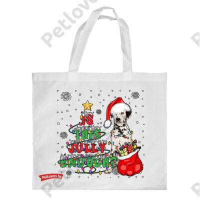 Dalmata mintás karácsonyi bevásárló táska