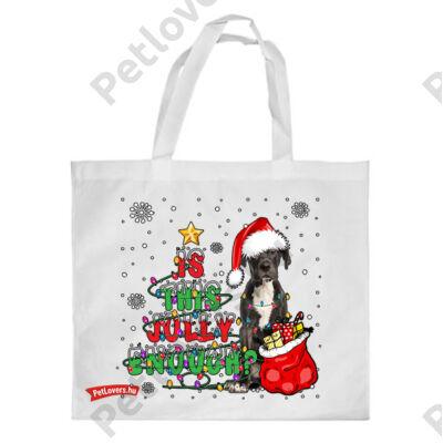 Német dog mintás karácsonyi bevásárló táska