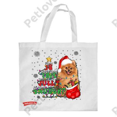 Pomeranian mintás karácsonyi bevásárló táska