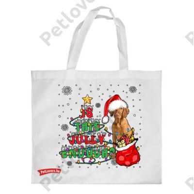 Vizsla mintás karácsonyi bevásárló táska