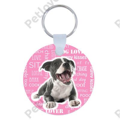 Amstaff kulcstartó - rózsaszín
