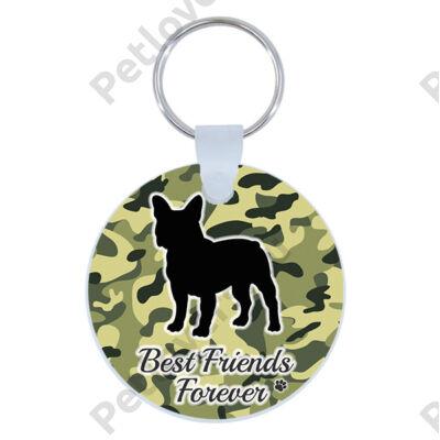 Francia Bulldog kulcstartó - best friends