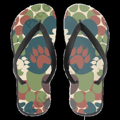 Mancsos papucs (flip flop) - camo