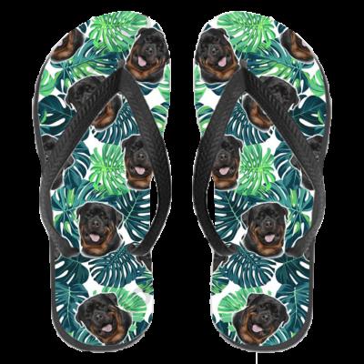Rottweiler papucs (flip flop) - leveles