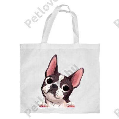 Boston Terrier mintás bevásárló táska