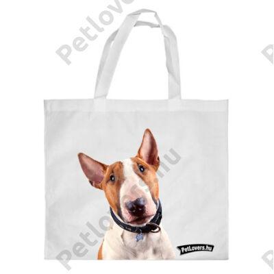 Bullterrier bevásárló táska - barna