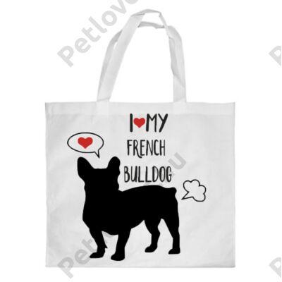 Francia Bulldog mintás bevásárló táska 3