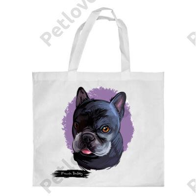 Francia Bulldog mintás bevásárló táska - 2