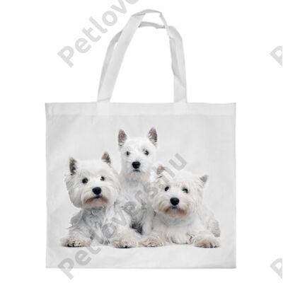 Westie mintás bevásárló táska