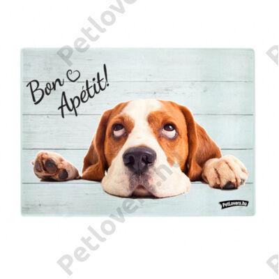 Beagle üveg vágódeszka