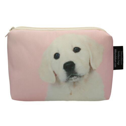 Labrador mintás kozmetikai táska - puppy