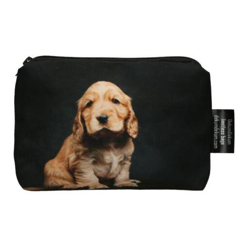 Spániel mintás kozmetikai táska - puppy