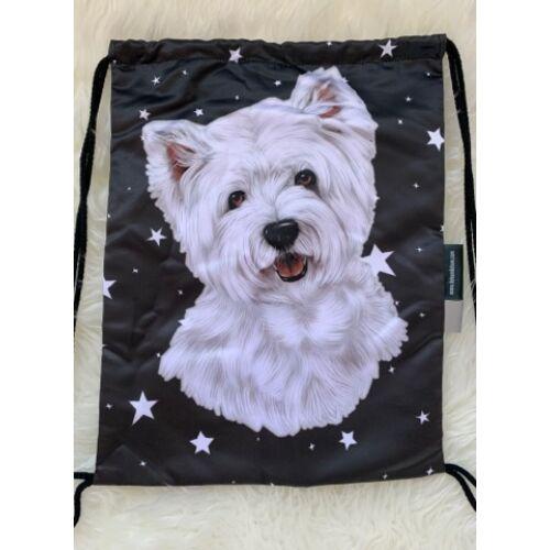 Westie mintás hátizsák - csillag