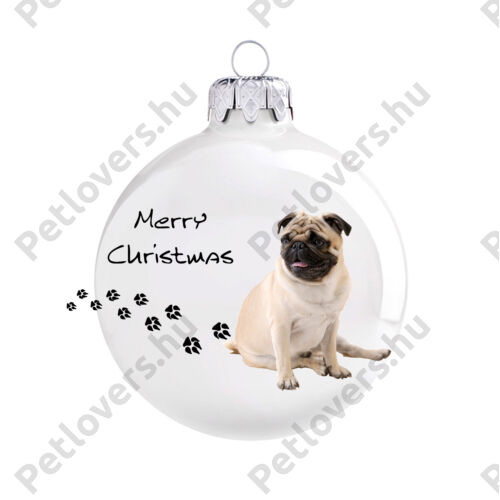 Mopsz karácsonyfadísz