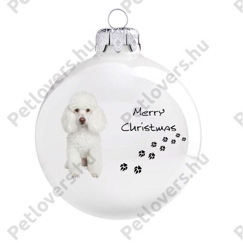 Uszkár karácsonyfadísz - fehér