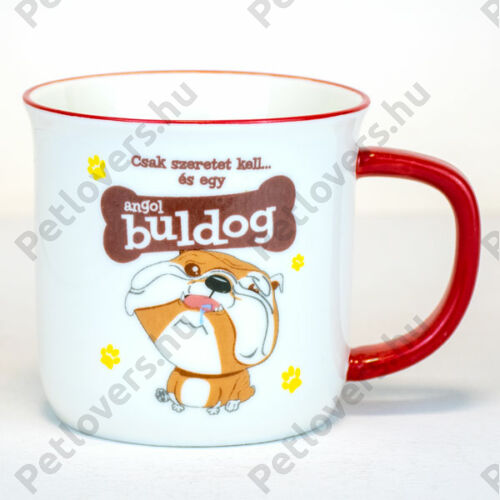Angol Bulldog bögre - w&w