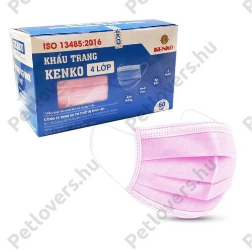 4 rétegű rózsaszín szájmaszk - 5db