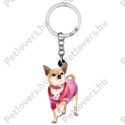 Chihuahua kulcstartó