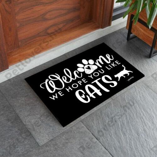Cicás lábtörlő - welcome cats