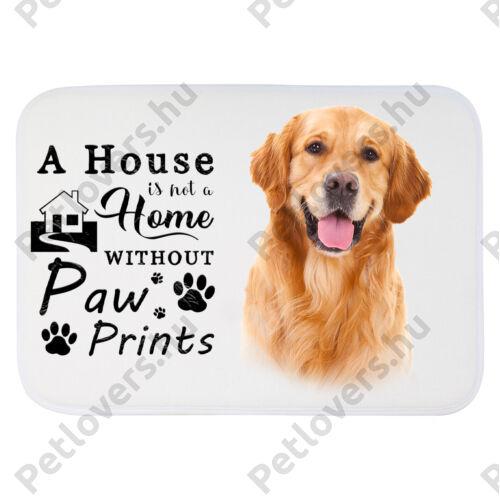 Golden retriever mintás szőnyeg - a house