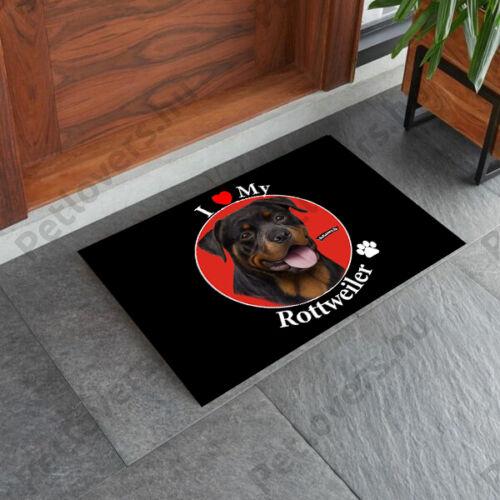 Rottweiler mintás lábtörlő - i love my
