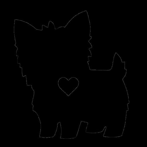 Yorkie matrica - szív