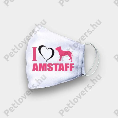 Amstaff mintás szájmaszk - love