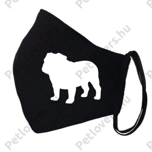 Angol Bulldog fekete szájmaszk