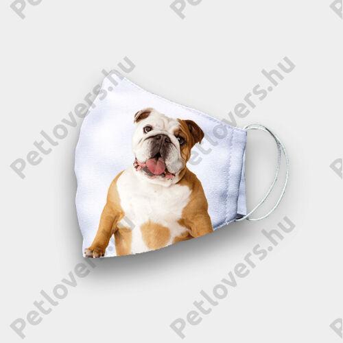 Angol Bulldog mintás szájmaszk